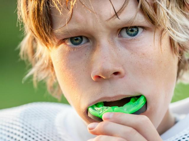 football mouthguard helps to protect your teeths